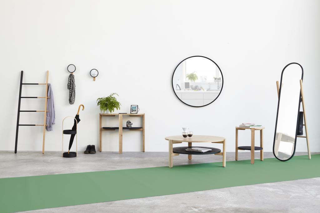 Spiegel Staand Zwart : Standspiegel hub holz schwarz umbra kaufen lilianshouse